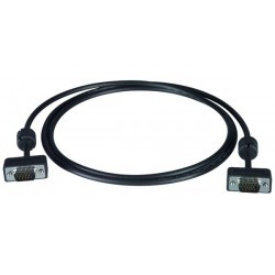 Ultra Thin VGA Monitor Cable with Ferrites - Male-to-Male - 50ft