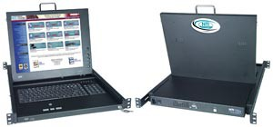 "VGA USB KVM drawer, SUN layout keyboard, 17"" (432 mm) monitor, numeric keypad, trackball"