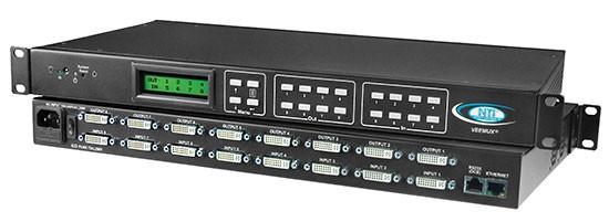VEEMUX® SM-8X8-DVI-LCD (Front & Back)