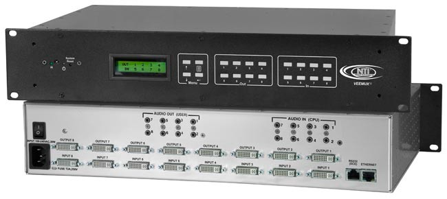 8 in 8 out DVI video matrix switch