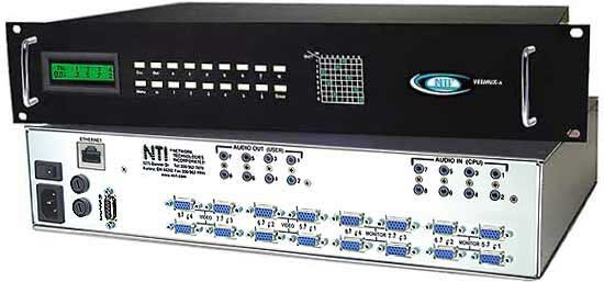 VEEMUX® SM-8X8-AV-LCD (Front & Back)