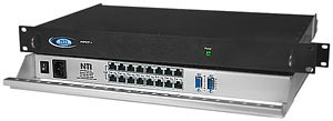 16-port VGA video splitter/extender via CAT5, rackmounted